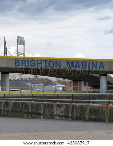 Brighton Marina - stock photo