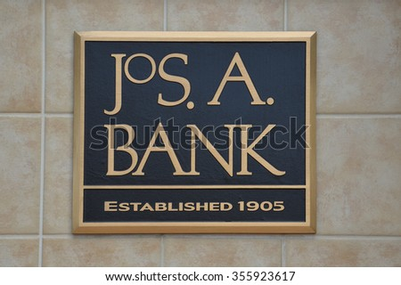 BRIGHTON, MI - AUGUST 22: Jos. A. Bank, whose Brighton, MI store logo is shown August 22, 2015, has over 600 stores.  - stock photo