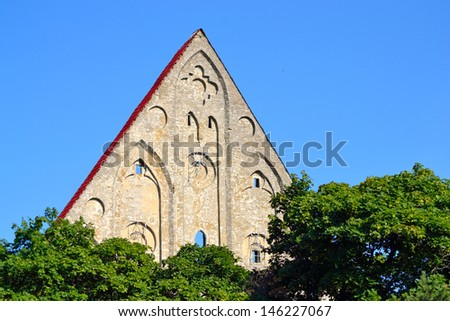 Brigitta convent ruins in Tallinn, Estonia. - stock photo