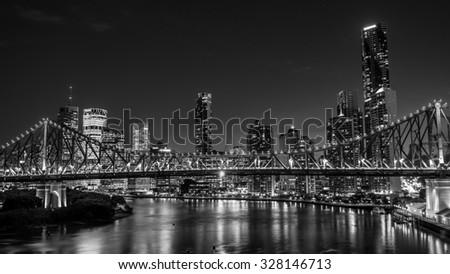 BRISBANE, AUSTRALIA Circa May 2014: The skyline of Brisbane at day - stock photo