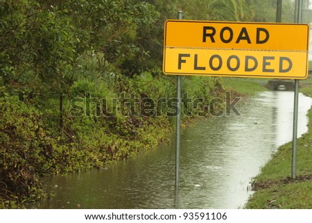 BRISBANE, AUSTRALIA - JAN 25 : One year on Brisbane flooding again, predicted flooding in Deception Bay area January 25, 2012 in Brisbane, Australia - stock photo