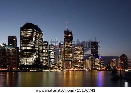 Brisbane by the the river  Brisbane  Australia - stock photo