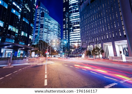 Brisbane city. Nights - stock photo