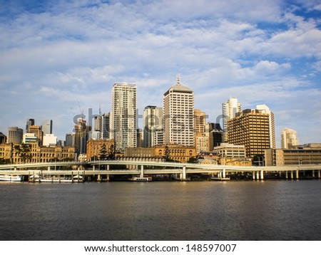 Brisbane city view in the day time. - stock photo