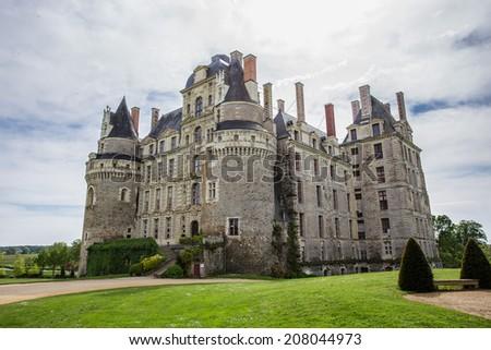 Brissac castle France - stock photo