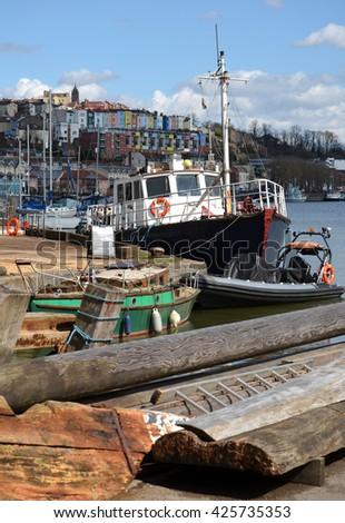 Bristol Traditional Harbor Scene - stock photo