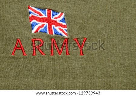 British army badge - stock photo