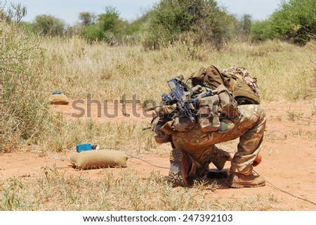 British Army bomb disposal expert. - stock photo