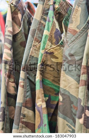 British Army camouflage material, useful for backgrounds - stock photo
