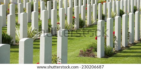 British Cemetery in Bayeux, Normandy, France. - stock photo