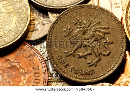 british coin currency - stock photo