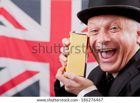British Financial City Worker - stock photo