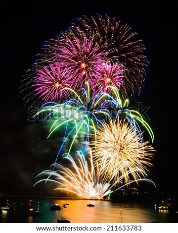 British Firework Championships 2014 at Plymouth Devon England UK Europe - stock photo