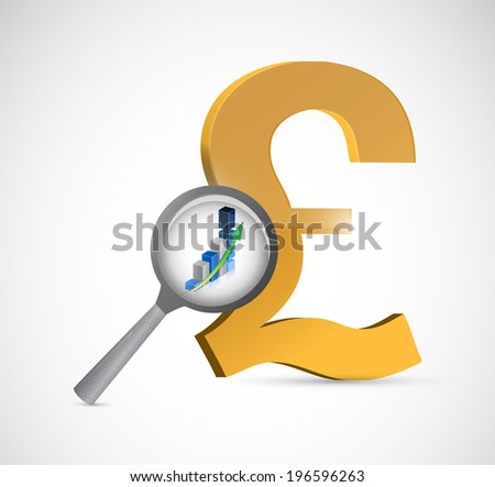 british pound currency review illustration design over a white background - stock photo