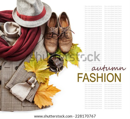 British style costume still life background - stock photo