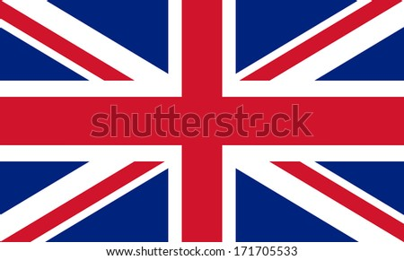 British Union Jack flag Authentic color and scale 3:5 - stock photo