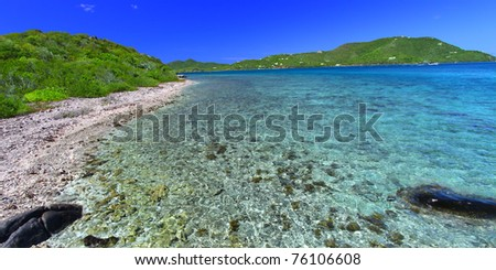 British Virgin Islands on a beautiful sunny day - stock photo