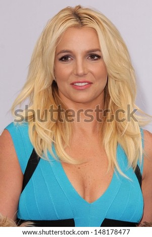 """Britney Spears at the """"The Smurfs 2"""" Los Angeles Premiere, Village Theater, Westwood, CA 07-28-13 - stock photo"""