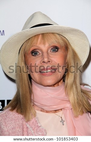 Britt Ekland at the Official Launch of BritWeek, Private Location, Los Angeles, CA 04-24-12 - stock photo
