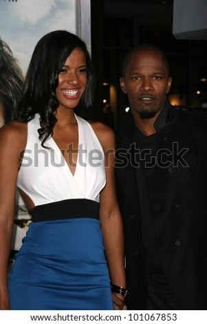"""Brittany Loren, Jamie Foxx at the """"Due Date"""" Los Angeles Premiere, Chinese Theater, Hollywood, CA. 10-28-10 - stock photo"""