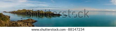 Brittany seascape, panorama - stock photo