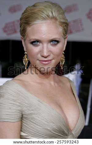 """Brittany Snow at the Los Angeles Premiere of """"John Tucker Must Die"""" held at the Mann's Grauman Chinese Theater in Hollywood, California United States on July 25 2006. - stock photo"""
