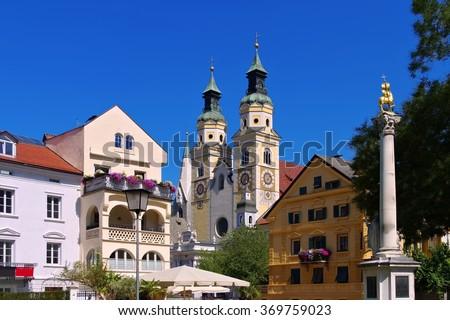 Brixen in S�¼dtirol - the town Bressanone in Alto Adige - stock photo