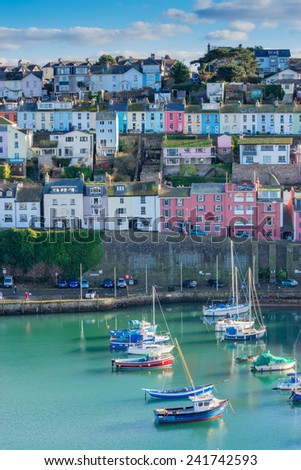 Brixham Harbour in South Devon - stock photo