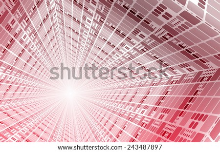 Broadband Internet with Fibre Speed Connection Art - stock photo