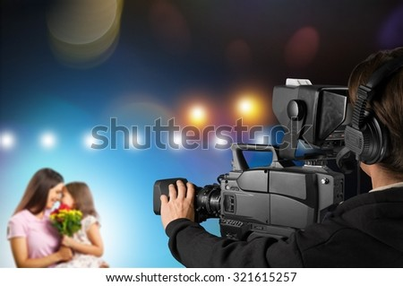Broadcasting. - stock photo