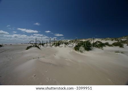 broadest European beach - stock photo