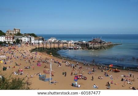 Broadstairs Beach in Summer - stock photo