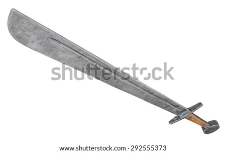 Broadsword isolated. Clipping path included. - stock photo