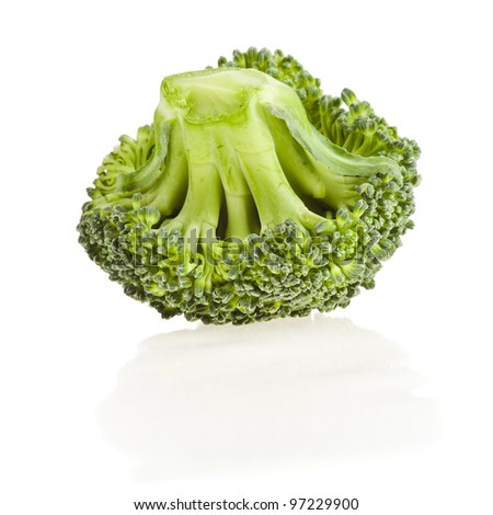 Broccoli  cabbage isolated on white - stock photo