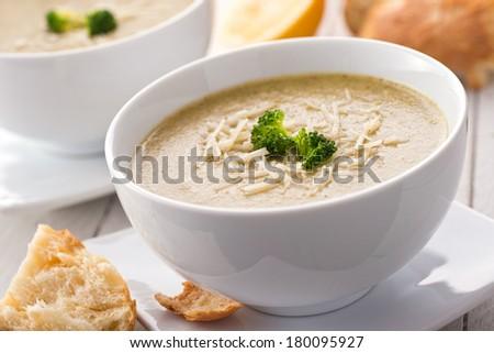Broccoli Couscous Soup - stock photo