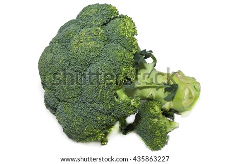 broccoli isolated - stock photo