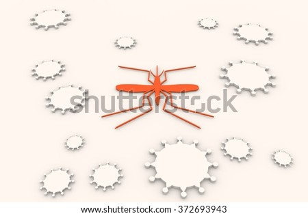 Brochure, report or flyer design background. Medical industry, biotechnology and biochemistry. Scientific medical designs.  Virus mosquito transmission diseases relative theme.  - stock photo