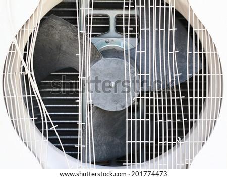 broken air conditioner - stock photo