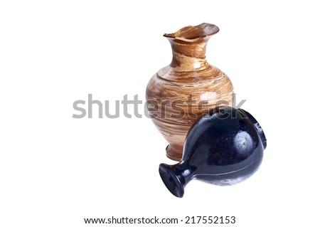 Broken amphora - stock photo