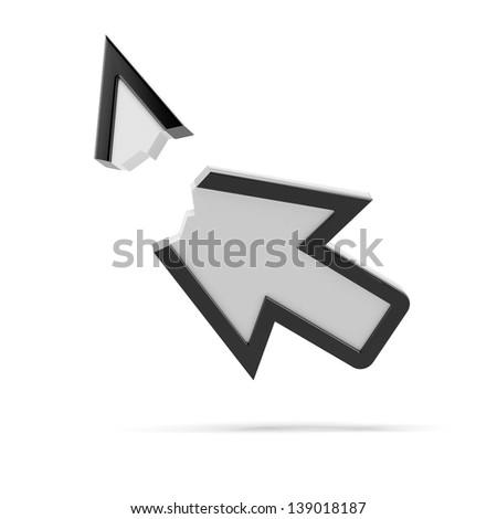 Broken arrow. Error page - stock photo