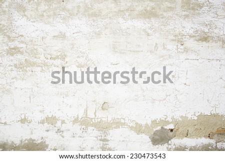 broken concrete wall in urban real estate, construction - stock photo