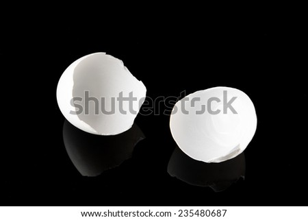 Broken egg shell - stock photo