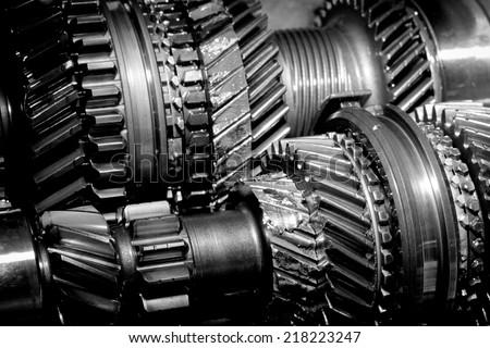 Broken gearbox - stock photo