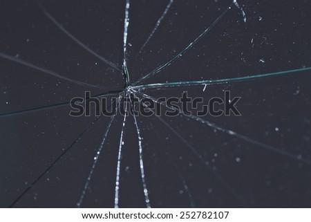 Broken glass - stock photo