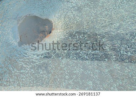 Broken glass texture - stock photo