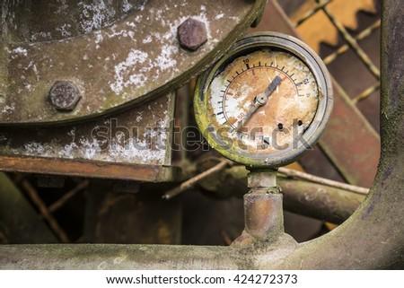 broken manometer - stock photo
