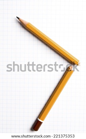 broken pencil isolated - stock photo