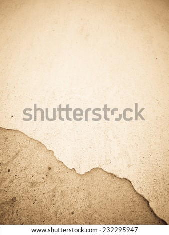 broken plaster wall, background - stock photo