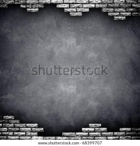 broken wall - stock photo