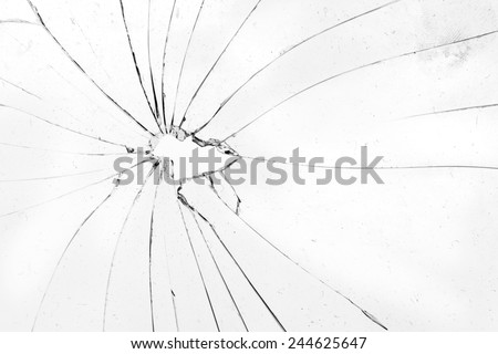 broken white glass - stock photo